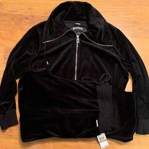 Michael Kors Ladies Black Velour Tracksuit Size 3X